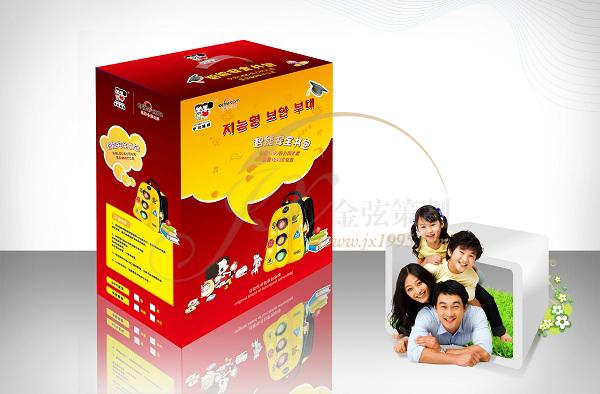 冬己娃娃智能安全儿童书包包装设计 包装设计 未命名  第4张
