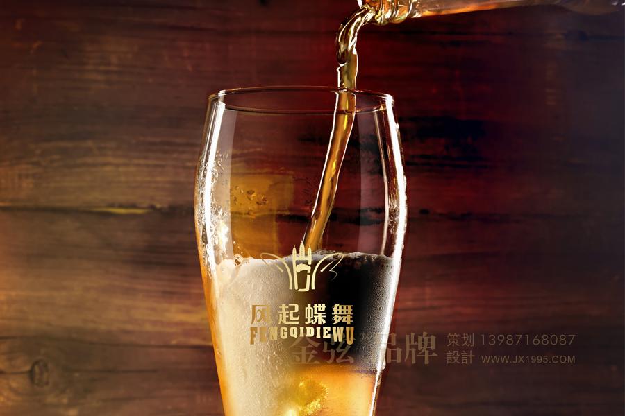 风起蝶舞大理啤酒logo设计 饮料包装设计 饮料logo设计 饮料电商设计 酒包装设计 酒logo设计 酒电商设计 logo设计 vi设计  第2张